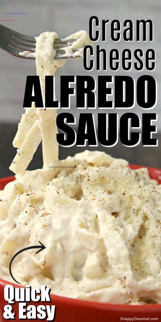 Easy Cream Cheese Alfredo Sauce Snappygourmet Com Chickenalfredo Alfredo Sauce Recipe Homemade Alfredo Sauce Easy Alfredo Sauce Recipe Easy