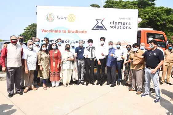 A simple Ceremony marked the handing over of the End-to-end Covid Cold Chain Maintenance Equipment