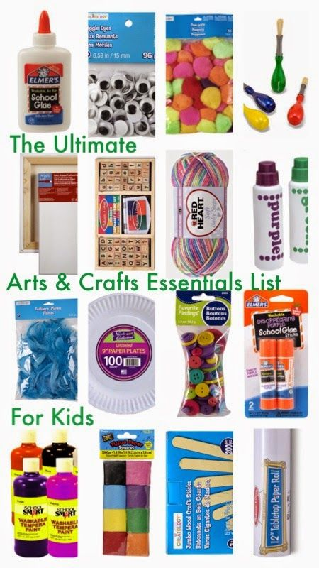 The Ultimate Arts & Crafts Essentials List for Children. Great reference for must-have art supplies for little kids!