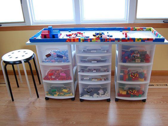 lego storage table An Imposing Collection of 23 Lego Storage Ideas