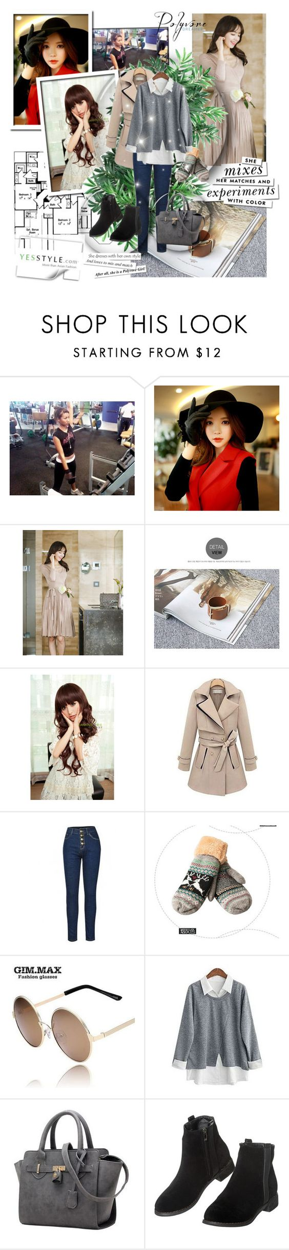 """""""YesStyle - 10% off coupon"""" by lejla-djerzic ❤ liked on Polyvore featuring Dabuwawa, Attrangs, Naning9, Sankins, Furifs, Flore, Lose Show, GIMMAX Glasses, LineShow and Bayo"""
