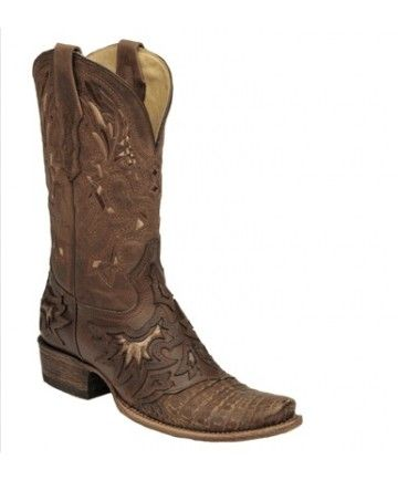 corral cognac chocolate caiman hornback cowboy boots