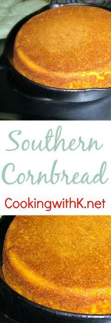Classic Southern Cornbread {Granny's Recipes}