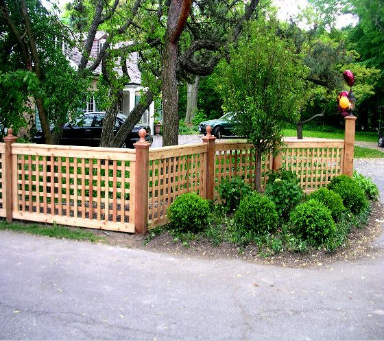 Front yards fence and yards on pinterest for Front garden fence designs