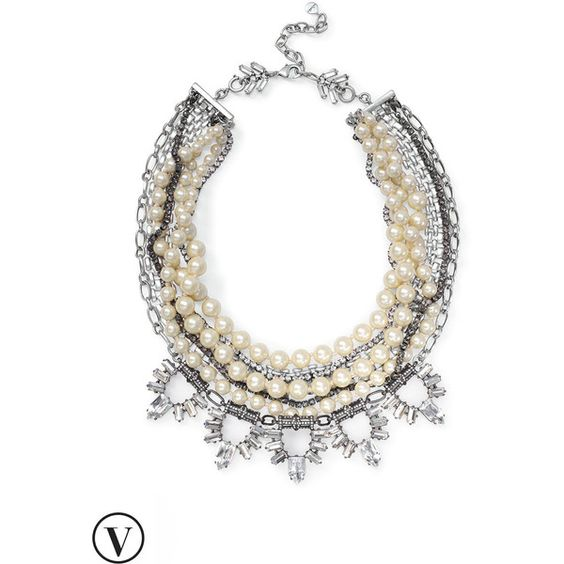 Stella & Dot Starlet Pearl Necklace ($138) ❤ liked on Polyvore featuring jewelry, necklaces, pearl strand necklace, strand necklace, statement necklaces, pearl statement necklace and pearl jewellery