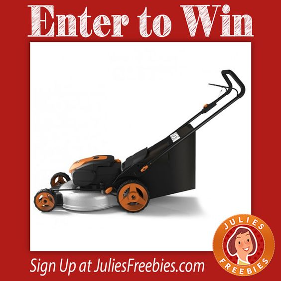 """Facebook Twitter PinterestHere is an offer where you can enter to win aWORX 56V Cordless 19"""" Lawn Mower. 5 winners on this one. Ends on August 31, 2016. ENTER HERE"""