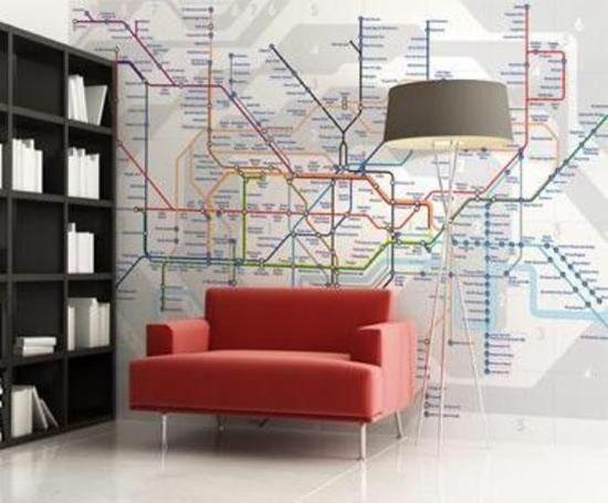 London Tube Map Wall Art London Tube Map Map Wall Mural Map