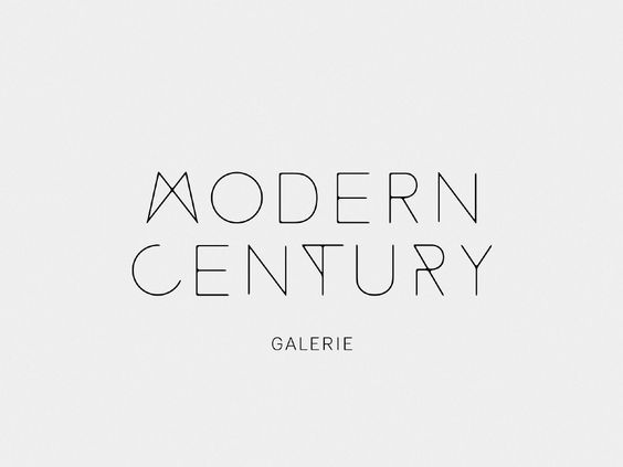 The logotype is inspired by steel tubes & rounded wood corners from mid-century furnitures.