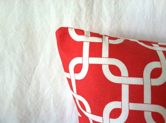 Rich color & modern style....Coral Pillow Covers  20 x 20 Set of Two Coral by mizzeztee on Etsy, $38.00