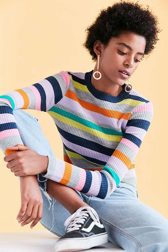 Beautiful Stripe Crew-Neck Sweater