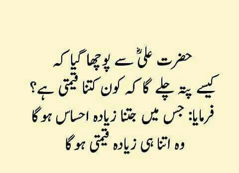 Pin by Asma on urdu page | Islam hadith, Hazrat ali sayings