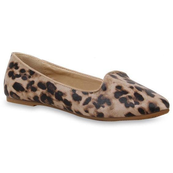 Bequeme Loafers im Leo-Print von stiefelparadies.de
