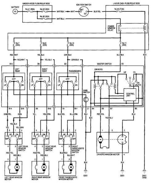 1996 Honda Civic Door Wiring Harness Diagram