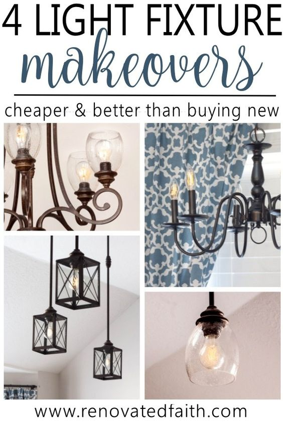 MIND BLOWN! - DIY Light Fixture Updates - These easy light fixture makeovers feature tutorials on how to make a DIY farmhouse chandelier, diy light fixtures for your kitchen, and how to add lantern sconces to your kitchen lighting fixtures. A DIY chandelier makeover will completely change the look of your dining room and house, whether you are adding a drum shade, mason jars or edison bulbs to update sconces and pendant lights. Can use these diy light fixture updates for your livingroom, bedroo