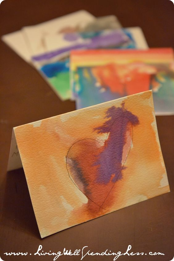watercolor thank you cards--great project to do with kids! #handmade #thankyoucards #homeschool