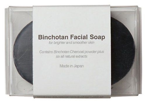 Binchotan Charcoal Facial Soap by Morihata. $32.00. Binchotan Facial Soap. Combines ultra fine Binchotan charcoal powder and natural extracts. Binchotan charcoals are a natural way to boost overall wellness.. Daily use will help to improve the texture and tone of your skin. Combining ultra fine Binchotan charcoal powder and natural extracts, this facial soap restores skin by exfoliating, moisturizing, and absorbing its impurities. Daily use will help to improve the texture and ...