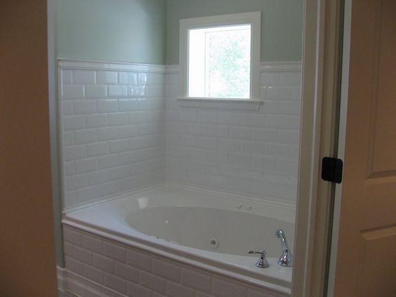Bathroom Tile Around Tub Ideas : Might want to use white subway tile around the master bath