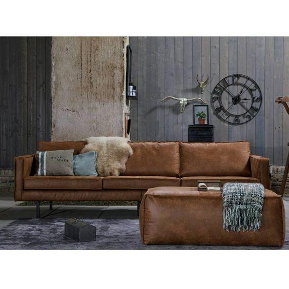prachtig 3 zits cognac bruin leren bankstel van. Black Bedroom Furniture Sets. Home Design Ideas
