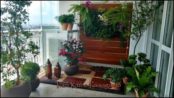 Ivani Kubo Paisagismo: Jardim em Varanda do Apartamento e Espaço Gourmet ...