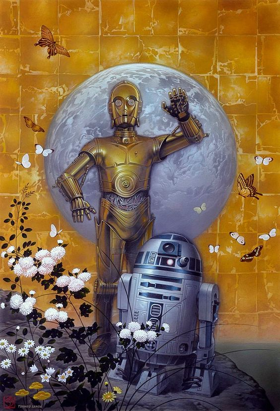 by Tsuneo Sanda: Art Work, Star Wars Painting, Star Wars Art, C3Po Art, Wars Paintings, Wars Artist