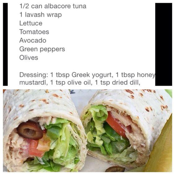 Tuna salad lavash wrap by @feelgoodfoodie