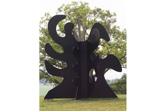 Alexander Calder - Tripes, 1974. Sheet metal, bolts, paint