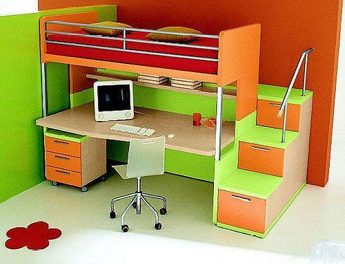 Cama alta infantil escritorio buscar con google muebles y accesorios pinterest google - Cama alta con escritorio ...