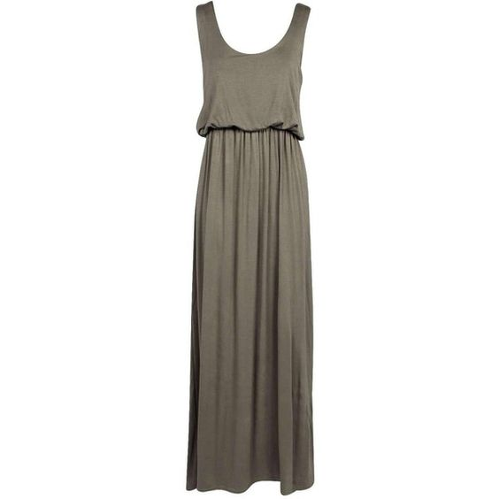 Serena Bagged Over Racer Back Maxi Dress (€2,35) ❤ liked on Polyvore featuring dresses, racerback dress, racer back maxi dress, racerback maxi dress, brown dress and brown maxi dress