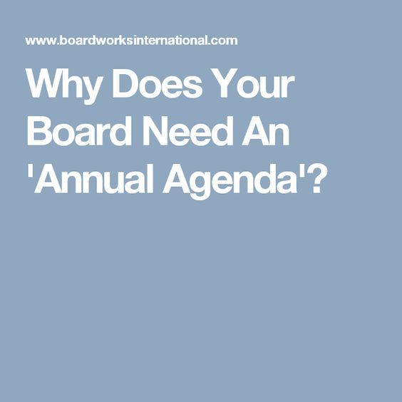 Board Annual Work Plans u2013 Miedemau0027s Board Consulting Work - annual agenda