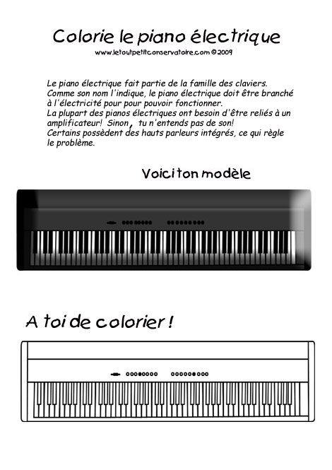 Piano electrique piano coloriage dessin m thodes pour for Piano electrique