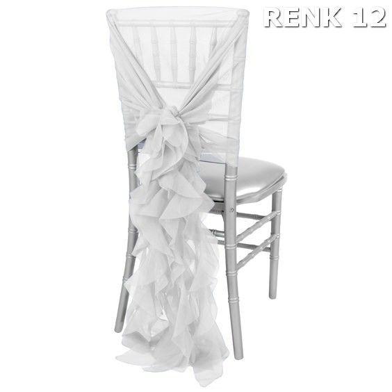 beyaz tul tiffany sandalye susu tiffani fiyonk dekor sandalye organizasyon