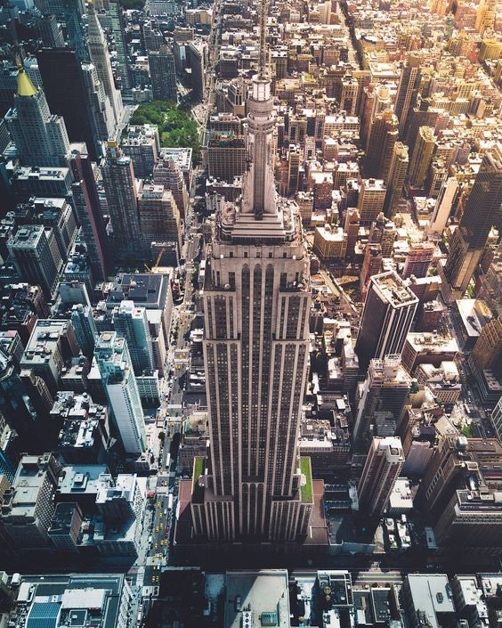 Looking down at Empire State Building