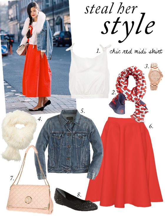 Midi skirts, Her style and Skirts on Pinterest