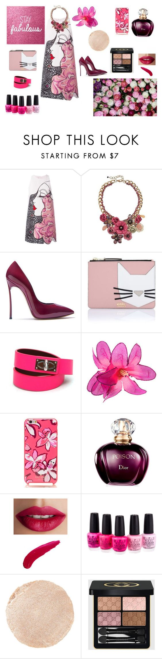 """Stay fabulous"" by maria-tamarindo on Polyvore featuring Giamba, Loli Bijoux, Casadei, Karl Lagerfeld, Givenchy, Kate Spade, TheBalm, OPI, Wander Beauty and Gucci"