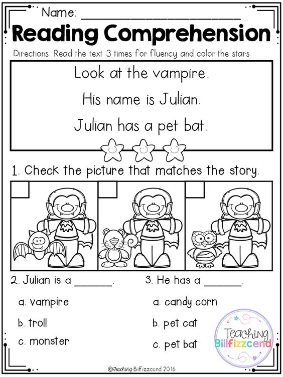 Inside you will find 5 FREE Halloween Kindergarten Reading ...