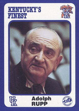 Today In History March 27, 1972: Legendary University of Kentucky basketball coach Adolph Rupp retires after 42 years of coaching #rememberthis