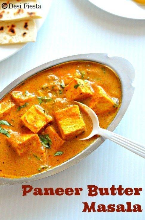 Paneer Butter Masala Indian Food Recipes Butter Masala Recipe Desi Food