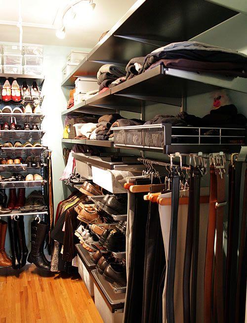 Elfa Closet In Real Life. His. ::double Faints:: | Organizing Ideas |  Pinterest | Elfa Closet, Closet Organization And Organizations