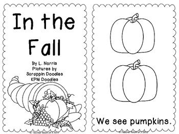 In the Fall Printable Sight Word Book Kindergarten-Great for Unit ...