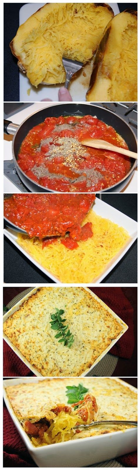 Baked Spaghetti Squash With Beef And Veggies Recipe — Dishmaps