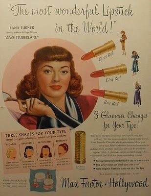 """Vintage Beauty Ads   vintage everyday: Nothing sold """"pretty"""" like Hollywood did in the ..."""