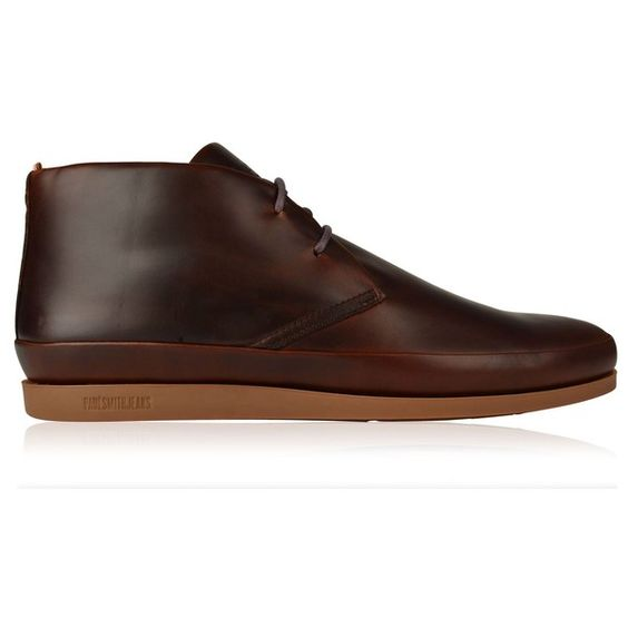 Paul Smith Loomis Chukka Boots ($265) ❤ liked on Polyvore featuring mens, men's shoes, men's boots and dk brown brando