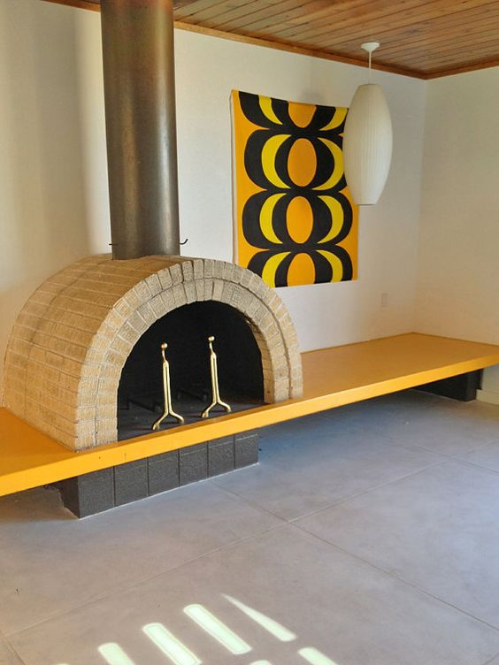 Fireplaces 1960s And Mid Century Modern On Pinterest