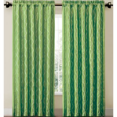 Window treatments curtain divider and colleges on pinterest - Green and turquoise curtains ...