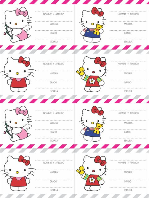 Tarjetas de hello kitty para imprimir gratis