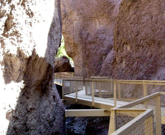 Point Name: The Catwalk  -108.834457, 33.376331 A steel platform winds above the creek. ©Bill Velasquez
