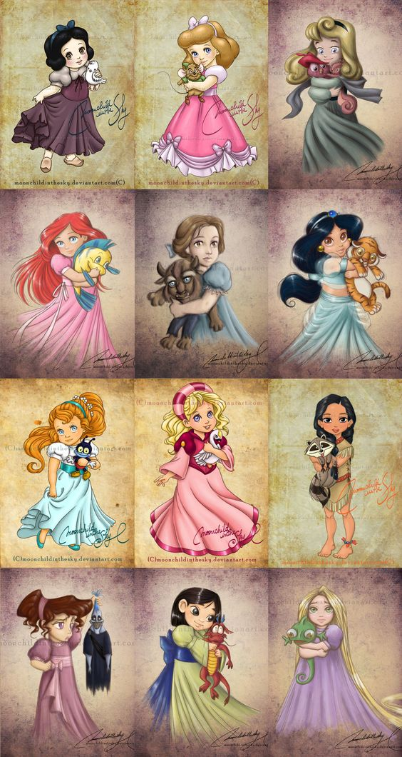 Child Princesses (love that Thumbelina and Odette/swan princess make it into here) by moonchildinthesky #FairyTales