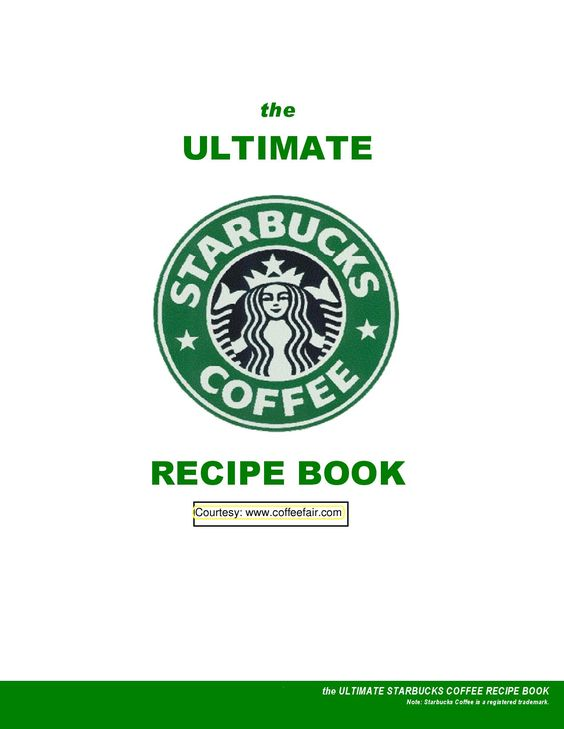 Coffee Recipes. Starbucks recipe book. Totally not how they make chai (Tazo, I thought) but awesome nonetheless!