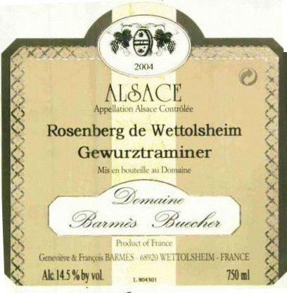 Wettolsheim / Barmes-Buecher / Rosenberg