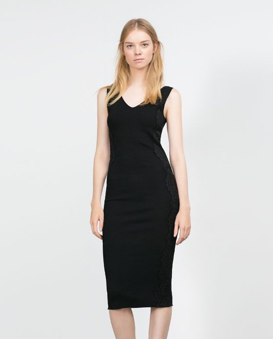 ZARA - WOMAN - LACE APPLIQUÉ DRESS